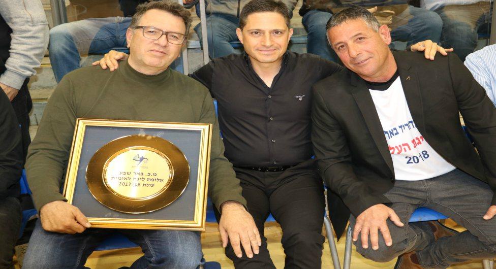 רוני טסלר עם רוביק דנילוביץ', מיקו צרפתי וצלחת האליפות