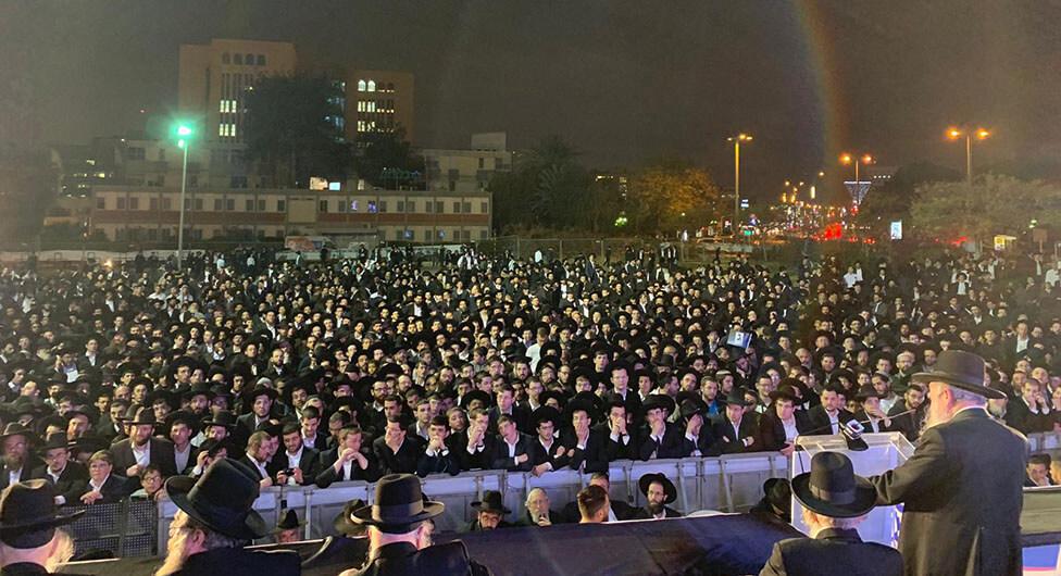 אלפים בכנס של הרב קנייבסקי בבאר שבע