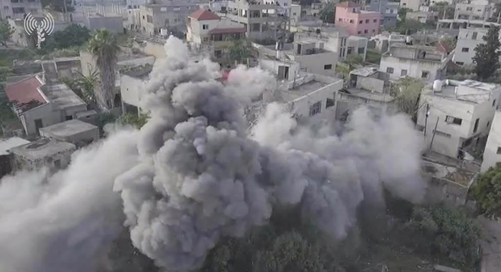 """צפו: צה""""ל הרס את ביתו של המחבל שרצח את סמ""""ר גל קיידאן ז""""ל"""