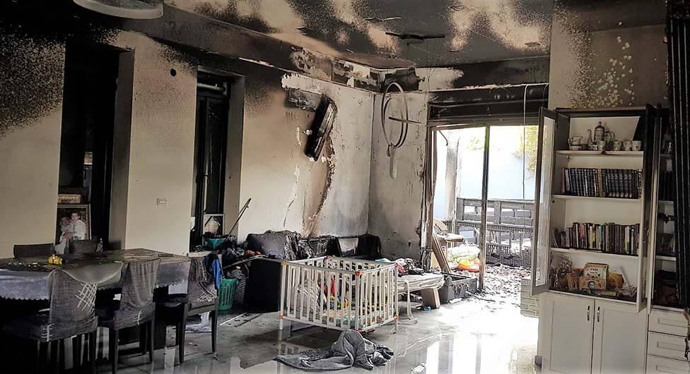 שדרות ירושלים באופקים: הילד לא היה בתוך בית שנשרף