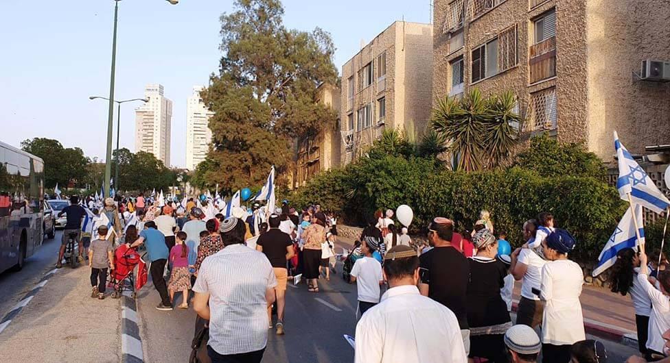 מאות באר שבעים צעדו לרגל יום ירושלים