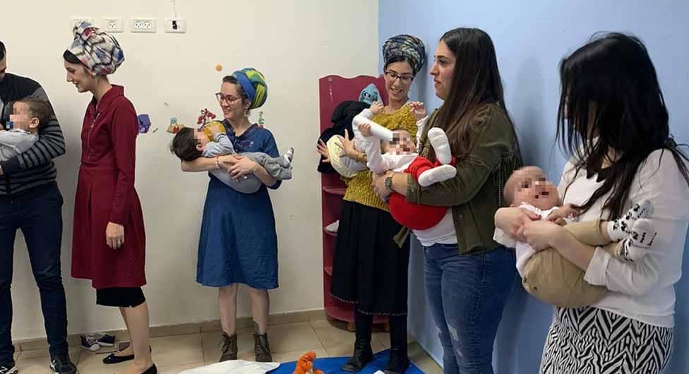 סדנת מסאג' לתינוקות בבאר שבע