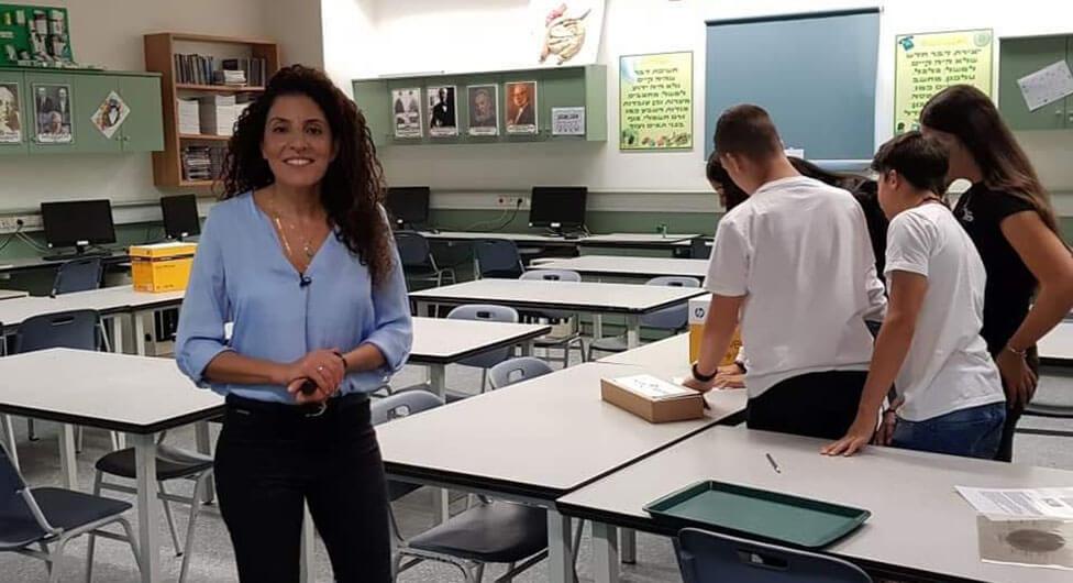 מחנכת בתיכון מרחבים מועמדת מובילה לקבלת פרס קרן טראמפ