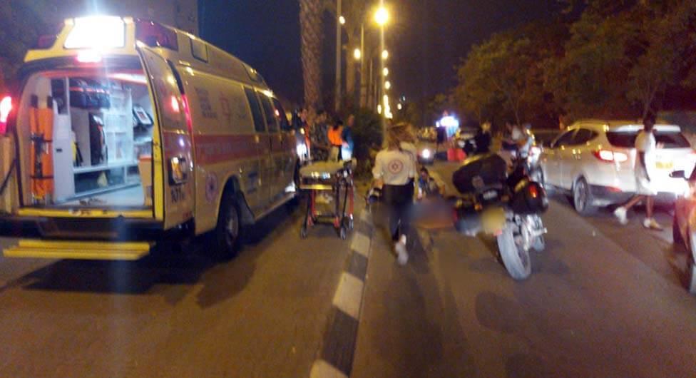 הולכת רגל נפגעה מאופנוע בבאר שבע
