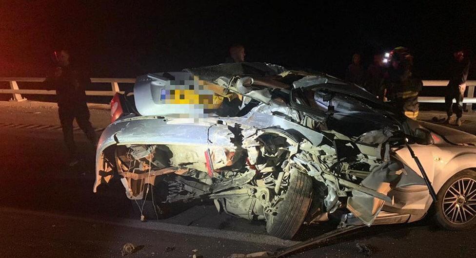 3 פצועים בתאונה בין 3 רכבים בכביש 6