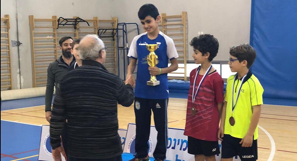אלוף ישראל בבדמינטון עד גיל 11 מבני שמעון