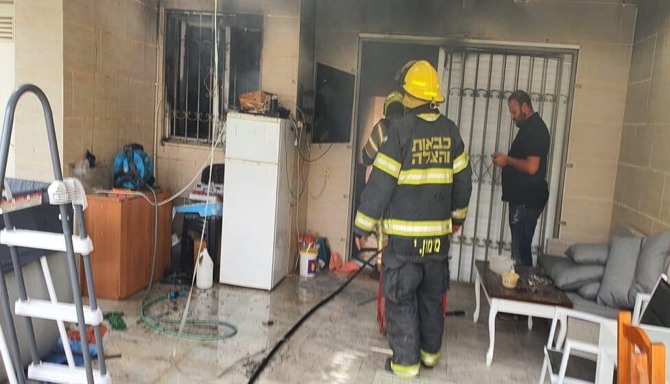 שריפה בבית בבאר שבע