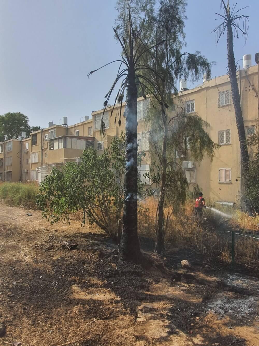 שריפה ברחוב יואל השופט בבאר שבע