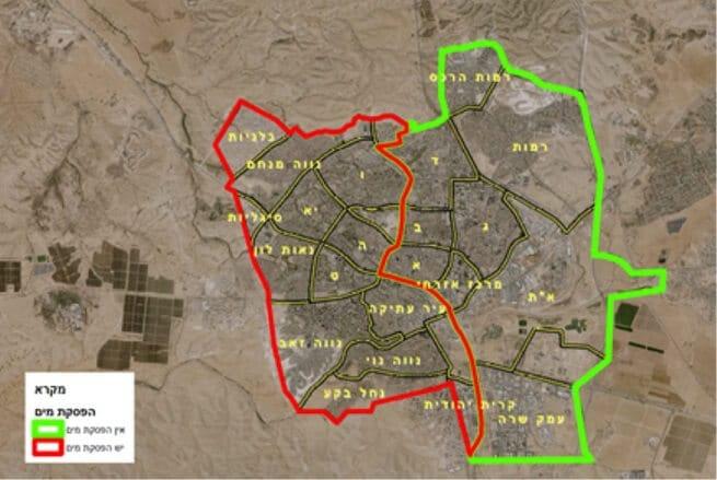 הפסקת מים בשכונות המערביות בבאר שבע