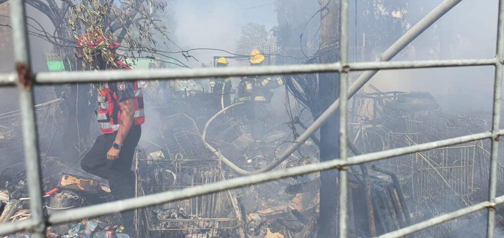שריפה ברחוב גולומב בבאר שבע