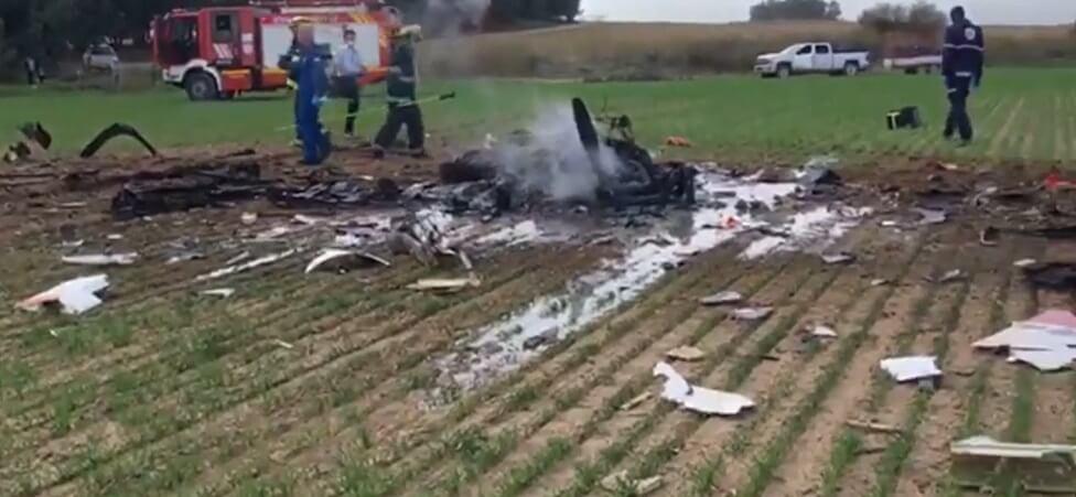 שני הרוגים בהתרסקות מטוס קל