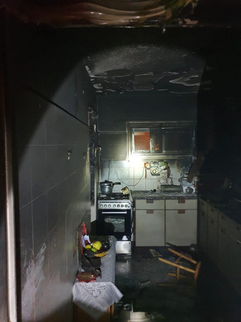 שריפת דירה הלילה בבאר שבע